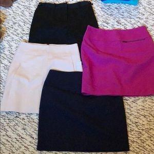 Ann Taylor LOFT/ limited skirt bundle of 4